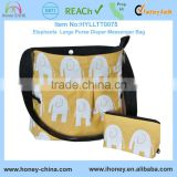 Baby diaper bag eco-friendly safe and functional elephant pattern bag