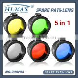 green/red/yellow/blue/White frosted 45mm C8 torch filter flashlight lens