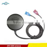High quality Waterproof External active 2-in-1dual band combo waterproof GPS GSM car antenna