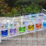 innovative clear curved acrylic test tube holder,acrylic test tube display stand,acrylic test tube rack