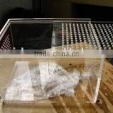 Organic acrylic pet cage , eco friendly clear acrylic box
