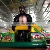 Promotion children's playground castle balloon slide , inflatable animal bouncer, kids inflatable bouncer house