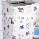 flower Printed washing machine cover to protect the machine from water and dust