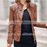 Women Brown Polo Jackets Fashionable Autumn Jackets 2013