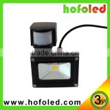 Factory price COB led flood light motion sensor 10w project-light lamp
