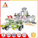 Cool building blocks military center jeep toys for kids car