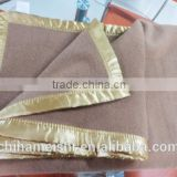 solid camel color wool blanket for army and hotel