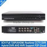 CCTV DVR 8 Channel With Hi3531 AHD DVR 720P Real Time 8Ch Playback DVR Recorder Max to 4TB