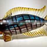 lucky fish art glass table decoration xo-2010003A and art glass home decoration