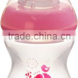 Easy grip cute small baby feeding bottle suitable for the milk storage bottle