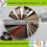 high quality flexible plastic edge trim in pvc,cabinet acrylic edge banidng tape,pmma edge banding tape