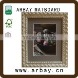 picture frame 4x6 double acrylic and wood picture frame with screw black white frame high quality