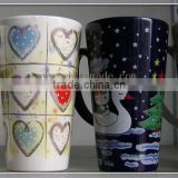 Fashionable amazing slant ceramic mug