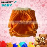 Eco-friendly High quality Natural Baby Bamboo Velour fitted Cloth Diaper washable cloth nappy