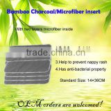 4/5 layers Anti-bacterial high quality eco-friendly Bamboo Charcoal/microfiber Insert