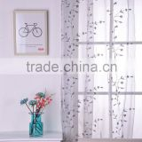 embroidered sheer voile curtain fabric curtain with eyelet