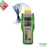 Digital 4 Channel K Type Thermocouple Thermometer Portable High Precision Temperature Meter