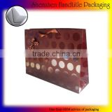 custom packaging shopping paper bag matt lamination spot UV coated