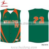 Sublimation Custom Deisgn Cotton Baseball Jersey Pattern Wholesale