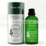 suitable for all people antioxidant organic bulk grape seed carrier oil