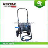 Portable wheeled hose reel cart with 30M water, Steel water hose cart with folding handle