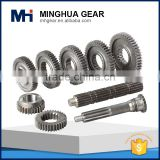 china made professional customized different shape spur gear and shaft