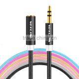 VOXLINK metal head gold plated 1m/2m/3m/5m/8m/10m 3.5 mm to 3.5mm Jack Aux stereo Audio Cable to Aux microphone Cable