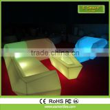 outdoor party used Night club Wireless Rechargeable Rotomolding white mould illiminated led plastic bar