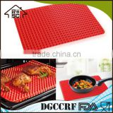 NBRSC Healthy Cooking Non Stick Heat Resistant Raised Pyramid Shaped Silicone Mat Oven Baking Tray Sheets