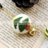 Hot new bestselling product wholesale alibaba Eco friendly handmade wool felt hanging ball phone keychain in bulk made in China