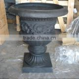 garden cast iron urns / antique cast iron flowerpot,flower pot,outdoor cast iron flowerpots