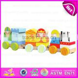 2015 New invention Kids Wooden toy blocks train set,Children 18PCS Wooden toy train,Educational Wooden toys Cargo Train W05C013