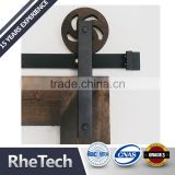 Antique style Soft close sliding barn door hardware spoke wheel two side soft close track