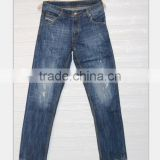GZY Mens High Quality Designer light Scratch Denim Biker Jeans denim fabric for jeans stock