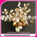 Natural freshwater pearl brooch brooches hand-woven fashion