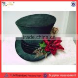 Cool gentleman flower hat black top hat PGSC-0430