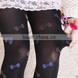 Mocks Cuttie Ribbon Garters Suspender For Ballet Dance Thigh High Jacquard Bow Velvet Thick Winter Women Tights