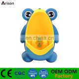 Factory new hot sale blue frog urinal baby boy toilet kids' piss training potty