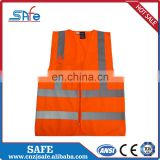 CE safety silver reflective fabric polyester vest