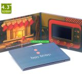 Customize advertising 4.3 inch LCD screen lcd video greeting card/display card/led invitation card