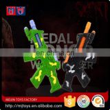 Good choice cheap B/O simulation shaking gun toy with light and sound for sale