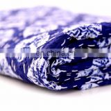Mandala indigo blue Kantha Quilt Hand Quilted Indian Latest Throw Blanket Twin size Kantha Quilt Bed cover