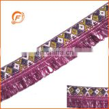 fashion webbing fringe trimming for garment in cotton material