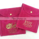 Red Velvet bag - Christmas jewelry pouches - 140mm x 105mm