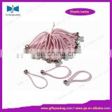 Bungee cord with metal ball
