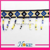 beaded tassel fringe trim hea195