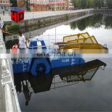 China Paddle Wheel Full Automatic Aquatic Weed Harvester&Water Hyacinth Salvage Vessel