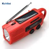 Kchibo Portable Emergency Weather Radio Hand Crank Self Powered AM/FM/NOAA Solar Radios with 3 LED Flashlight 1000mAh Power Bank