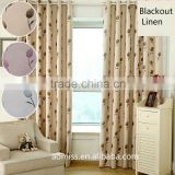 5 star hotel high quality 100% linen fireproof blackout curtains and drapes