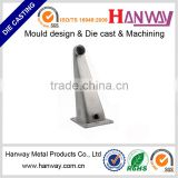 CNC precision machining powder coating cctv security IP camera housing wall mount bracket die casting aluminum